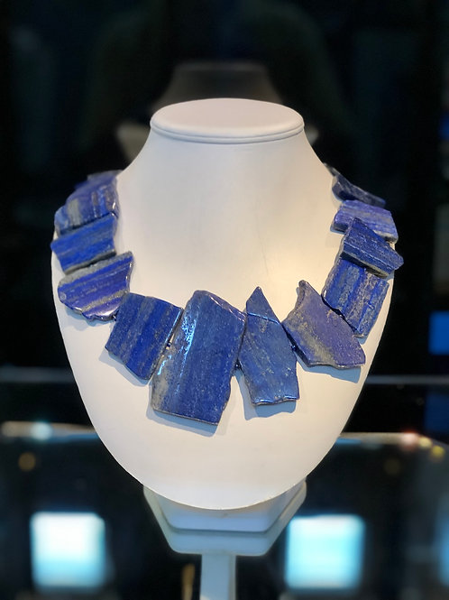 Lapis Slab Necklace
