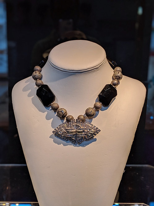 Glass and Art Deco Necklace