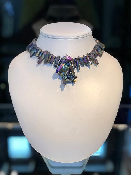 Titanium and Crystal Chocker