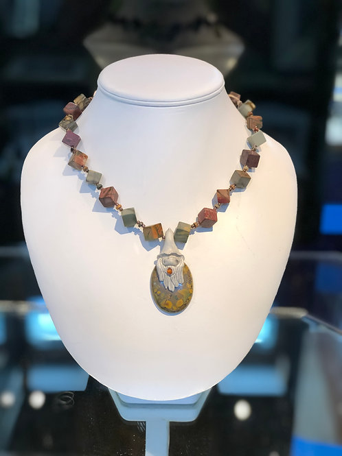 Jasper and Stone Necklace