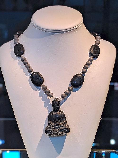Black Buddha Necklace