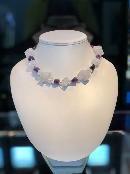 Quartz and Amethyst Necklace