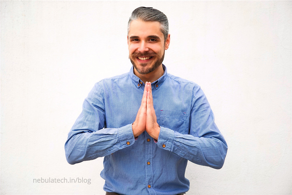 Namaste for respect at workplace