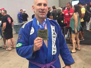 Congratulations to Team Link Purple Belt John Bosco on taking Bronze at the 2018 IBJJF Masters World