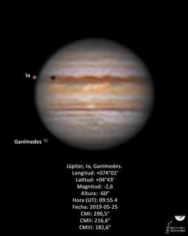 Júpiter, Io, Ganímedes