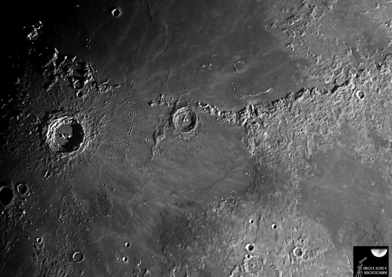 Cráteres Copérnico y Eratóstenes