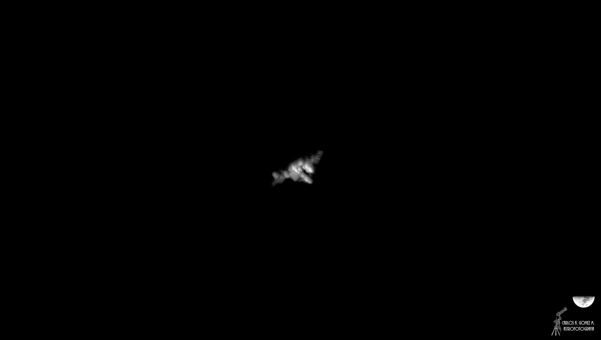 ISS en paso sobre Bogotá 12-2-2019