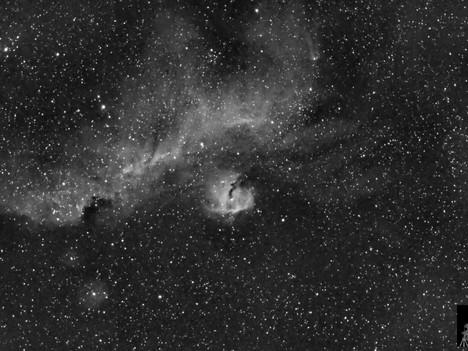 Nebulosa Gaviota en Ha
