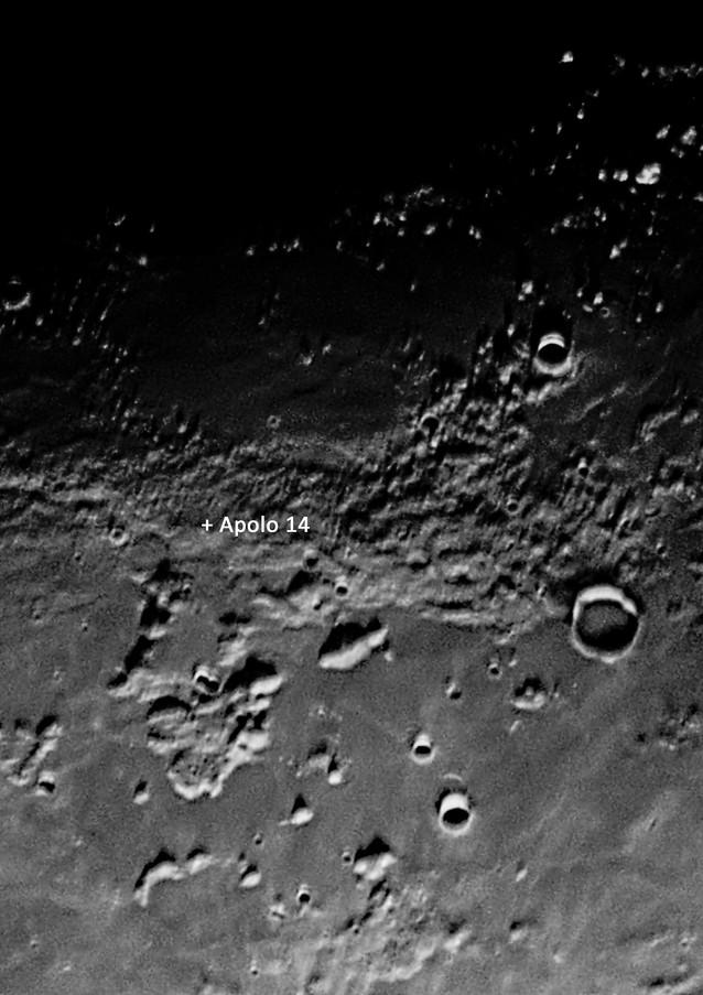 Lugar de alunizaje del Apolo 14