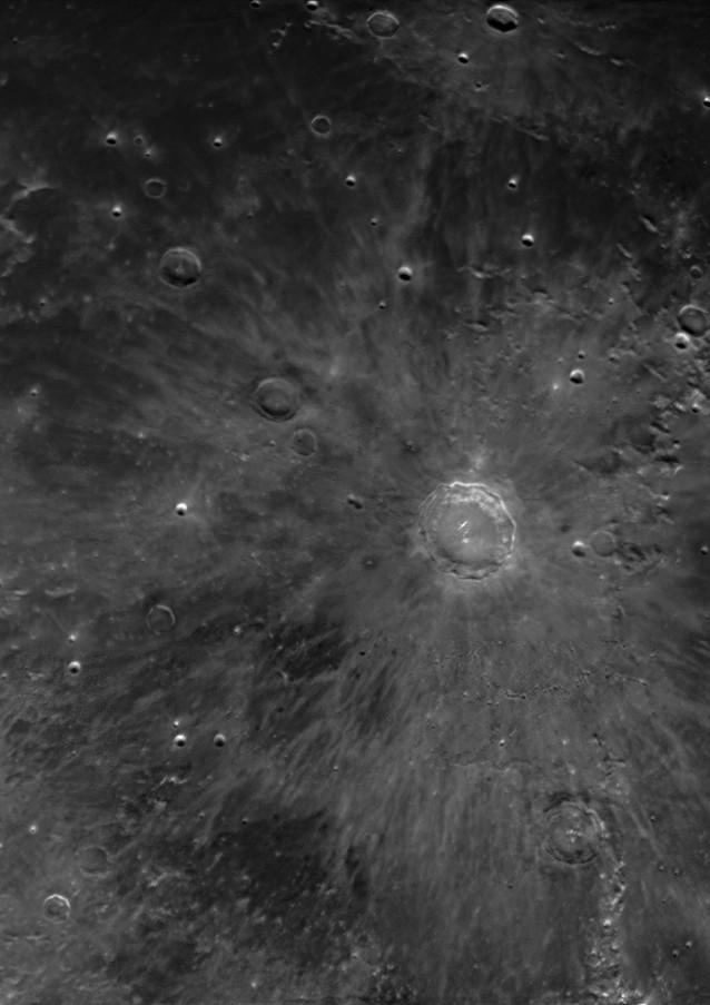 Crater Copérnico - Luna Creciente 90%