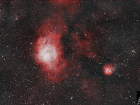 Nebulosas Laguna y Trífida