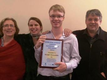 Congratulations Grant! Recipient of Corangamite Shire Youth Achievement Environment Award!