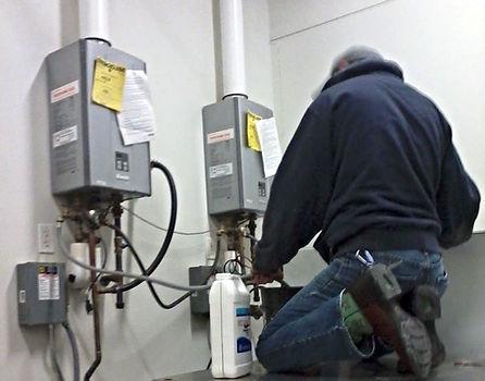 Tankless Water Heater De-Scaling Service