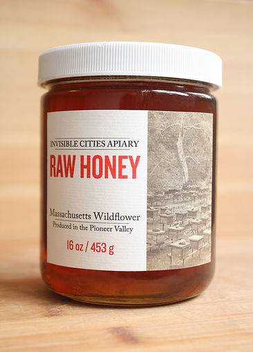 Invisible Cities Apiary Raw Massachusetts Wildflower Honey