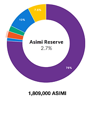 Asimi token reserve allocation
