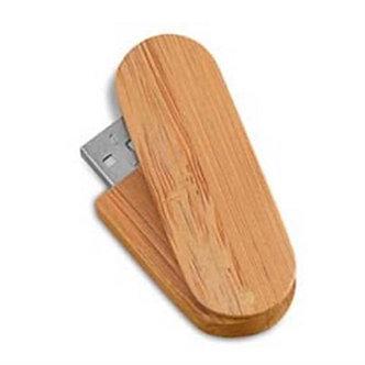 MS082- CLE USB ROTATIVE en BAMBOU