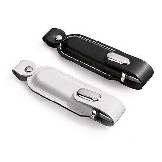 CLE USB en CUIR ET METAL