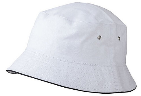 CASQUETTE FISHERMAN PIPING blanc