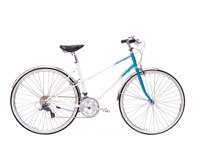 16Speed Lady Mixte - white/blue