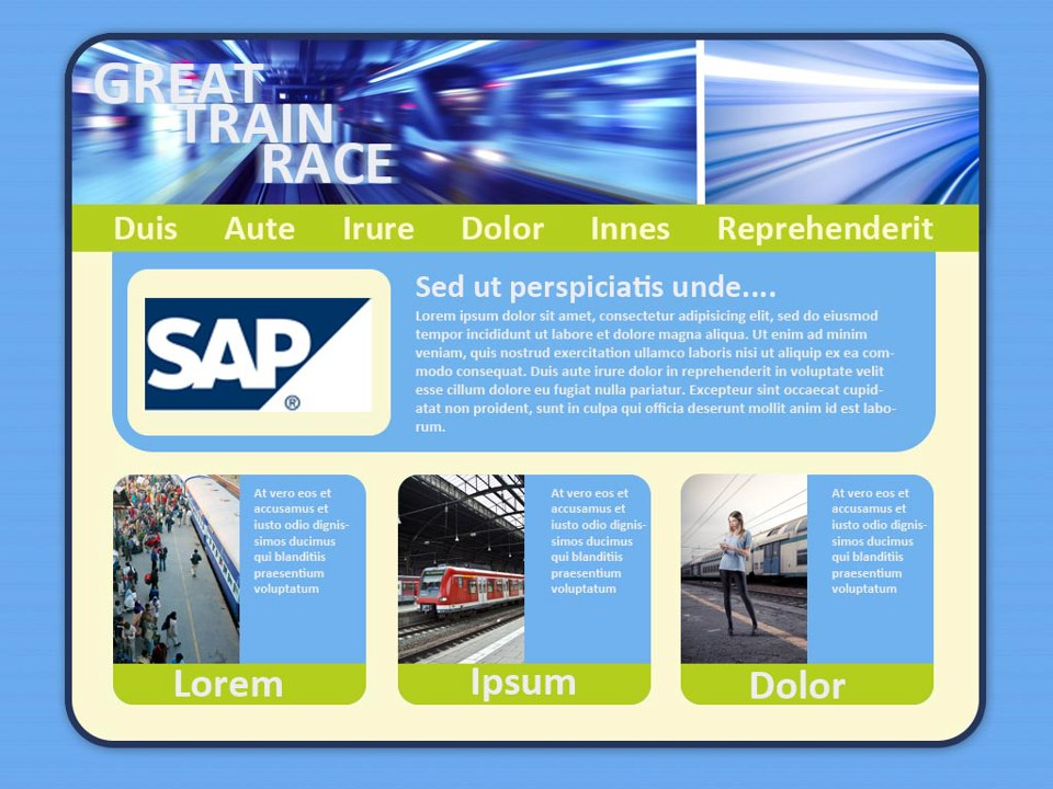 SAP Trainrace