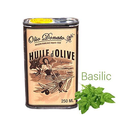 Huile d'Olive Vierge Extra au Basilic Frais 250ml