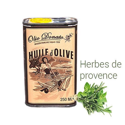 Huile d'Olive Vierge Extra aux Herbes de Provence 250 ml