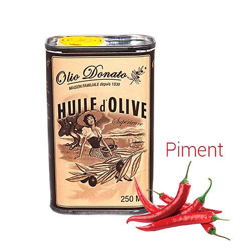 Huile d'Olive Vierge Extra au Piment frais 250ml