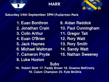 Musselburgh Squad to play Marr