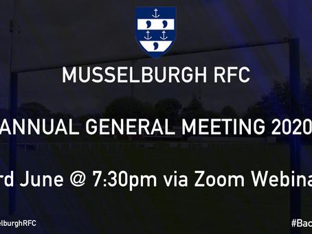 Musselburgh Rugby Club AGM 2020