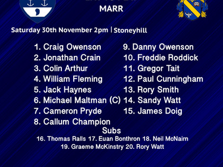 Line Ups: Musselburgh vs Marr