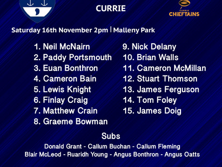 LINE UPS: Currie vs Musselburgh