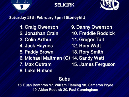 1XV for Selkirk Clash