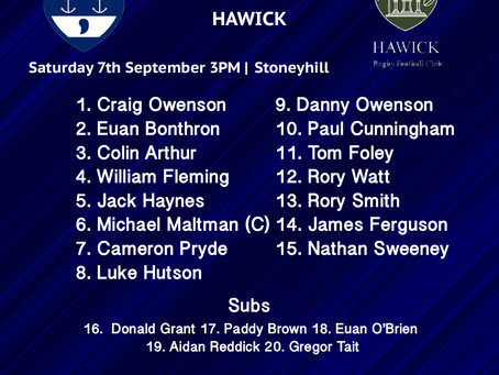 Musselburgh Squads To Play Hawick