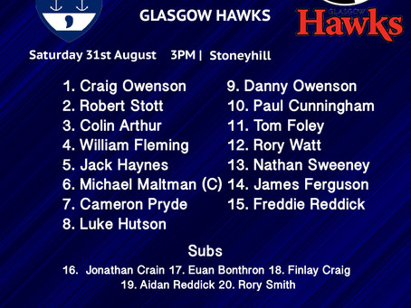 Musselburgh's Line Up Against Hawks
