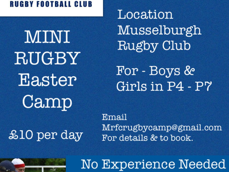 MRFC Mini Rugby Easter Camp