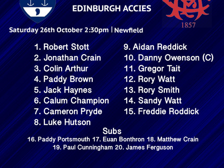 LINE UPS: Musselburgh vs Edinburgh Accies