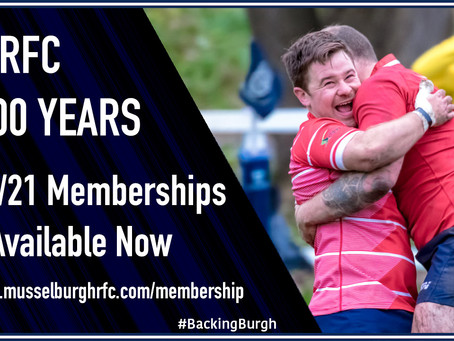 Memberships Now Due
