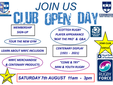 Club Open Day This Saturday!