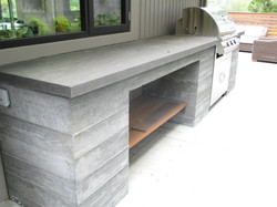 poured in place concrete BBQ