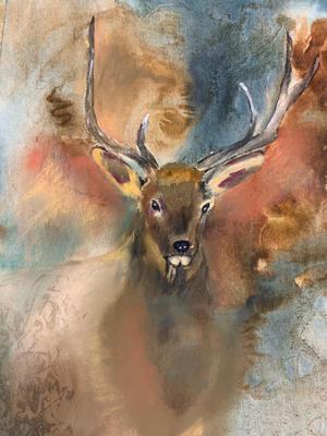 Elk Through the Mist