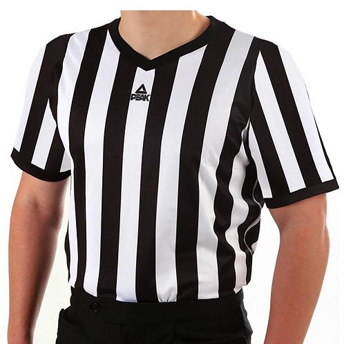 PEAK mesh v-neck basketball referee shirt