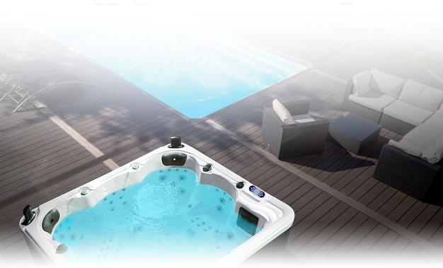 photo de spa exterieur top spa exterieur amenagement jacuzzi et spa en extacrieur exterieur. Black Bedroom Furniture Sets. Home Design Ideas