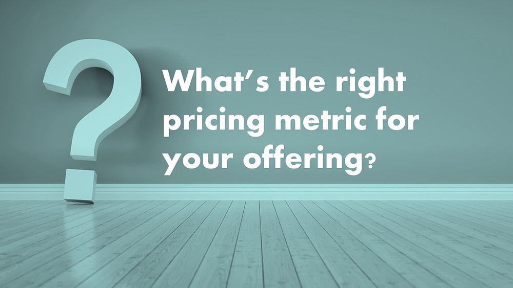 How to find the right pricing metric