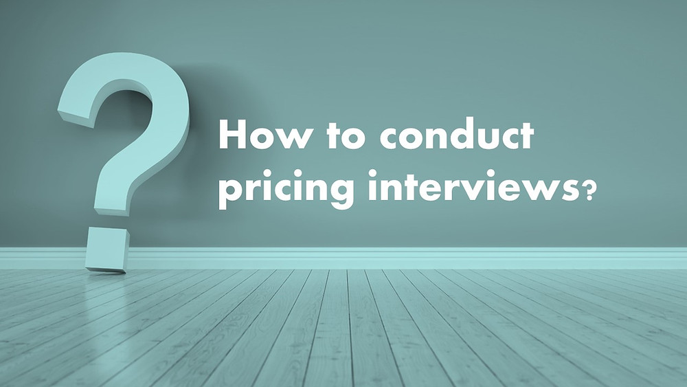 How to do pricing interviews