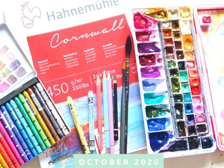 Favorite Art Supplies & Floral Painting