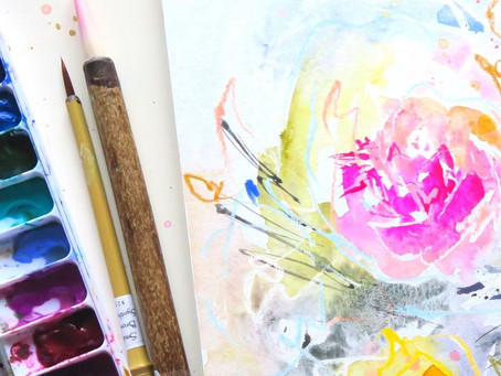 Abstract Florals- Colorful Watercolor Tutorial