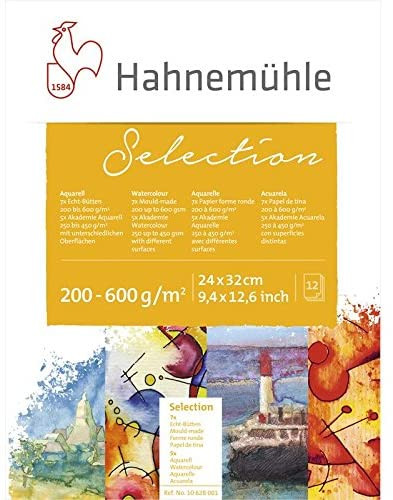 Hahnemuhle watercolor paper selection