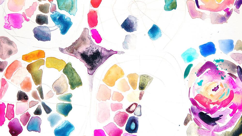 watercolor color choices