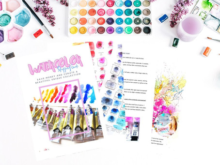 Grab  A Watercolor Shopping Guide For Free!