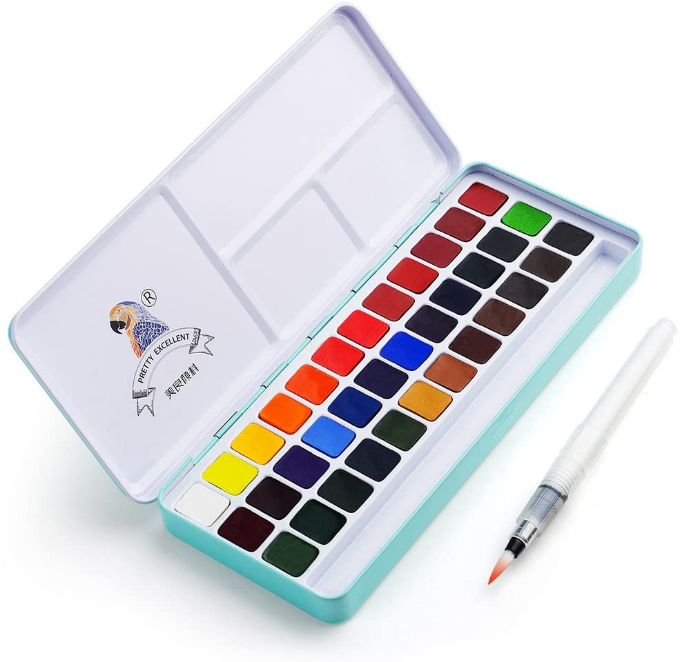best cheap affordable watercolor palette set